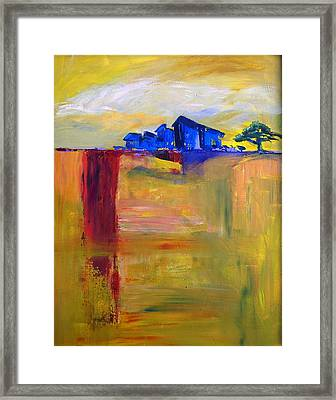Karoo With Blue Shanties Framed Print