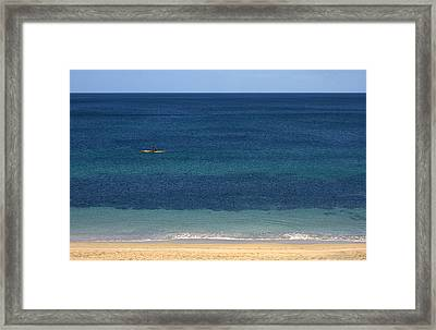 Kayaking On The Coastline Of Wa Framed Print