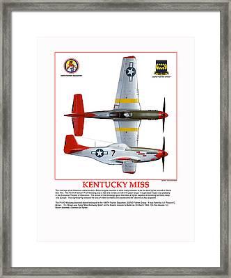 Kentucky Miss Framed Print by Jerry Taliaferro