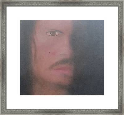 Framed Print featuring the painting Kirk Hammett by Patricia Cleasby