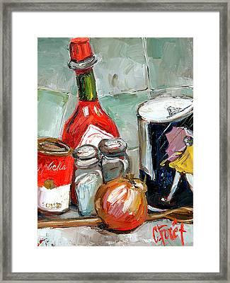 Kitchen Counter Framed Print by Carole Foret