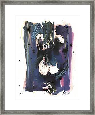 Framed Print featuring the painting Kneeling by Robert Joyner