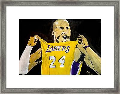 Kobe Bryant Framed Print by Estelle BRETON-MAYA