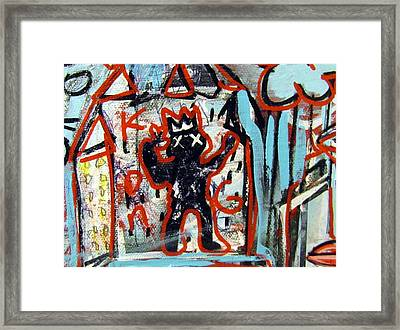 Kong Framed Print by Robert Wolverton Jr