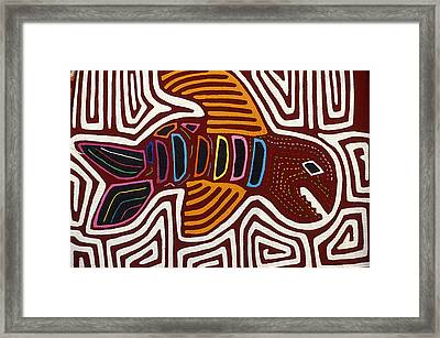 Framed Print featuring the photograph Kuna Fish Mola Panama by John  Mitchell