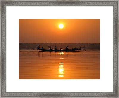 Lake Crossing Framed Print
