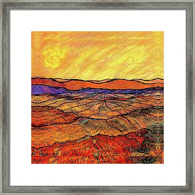 Landscape In Yellow Framed Print