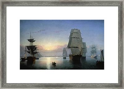 Lane: Boston Harbor Framed Print by Granger