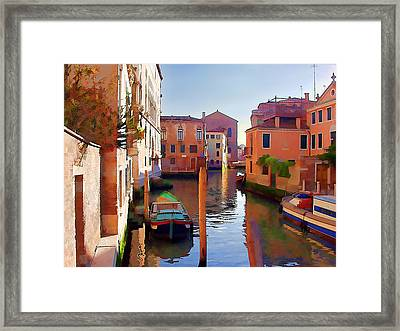 Late Afternoon In Venice Framed Print by Elaine Plesser
