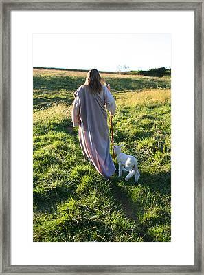 Leadeth Me Framed Print by Vienne Rea