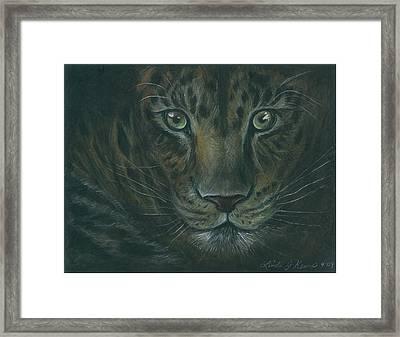 Leopard Framed Print by Linda Nielsen