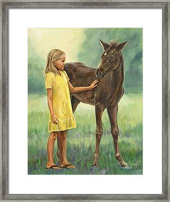 Framed Print featuring the painting Let's Be Friends by Karen Wilson