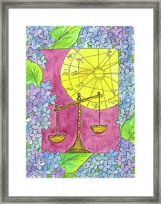 Framed Print featuring the painting Libra by Cathie Richardson