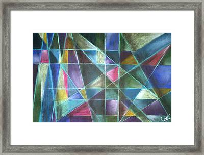 Light Patterns 2 Framed Print