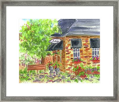 Framed Print featuring the painting Lila's Cafe by Cathie Richardson