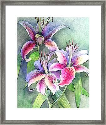 Lilies Framed Print by Khromykh Natalia