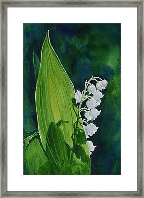 Framed Print featuring the painting Lily Of The Valley by Margit Sampogna
