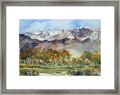 Framed Print featuring the painting Linda's View by Pat Crowther