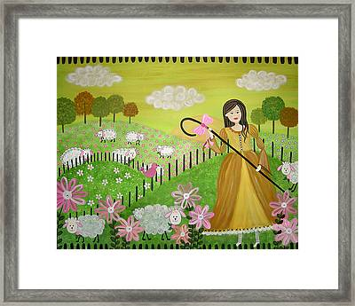Little Bow Peep Framed Print by Samantha Shirley