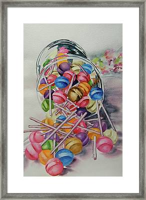 Lollypops Framed Print by Terry Honstead
