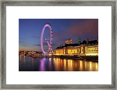 London Eye Framed Print by Stuart Stevenson photography