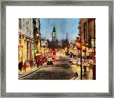 London Scene Framed Print