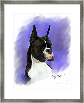 Look At Me Framed Print by Maxine Bochnia