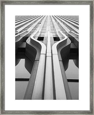 Look Up A Twin Tower Framed Print by Darcy Michaelchuk