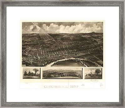 Louisville, Kentucky 1876 Framed Print by Baltzgar