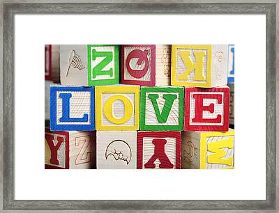 Love Framed Print by Neil Overy