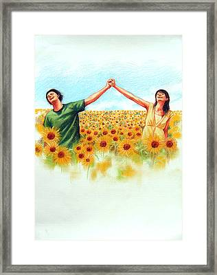 Framed Print featuring the painting Lovely by Chonkhet Phanwichien