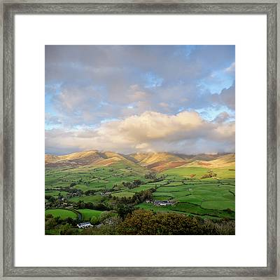 Lune Valley And Howgill Fells Framed Print by David Barrett
