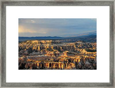 Magical Light At Bryce Canyon  Framed Print
