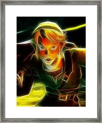 Magical Zelda Link Framed Print by Paul Van Scott
