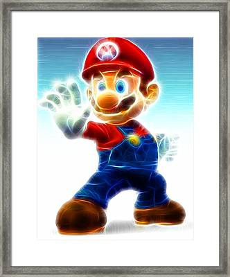 Mario Framed Print by Paul Van Scott