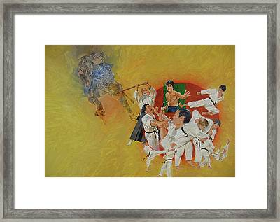 Martial Arts Framed Print by Cliff Spohn