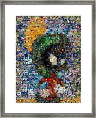 Marvin The Martian Mosaic Framed Print