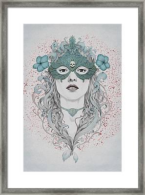 Masked Framed Print by Diego Fernandez
