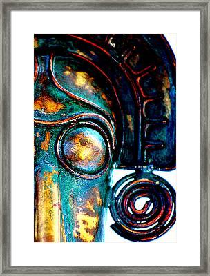 Masked Framed Print by Floyd Menezes