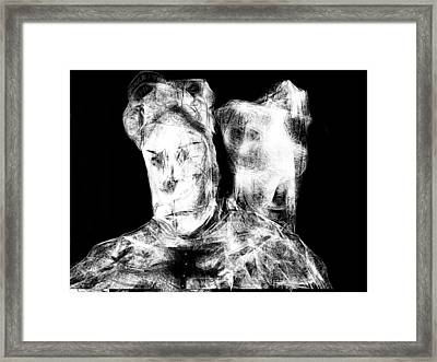 Framed Print featuring the digital art Master And The Dog by Rc Rcd