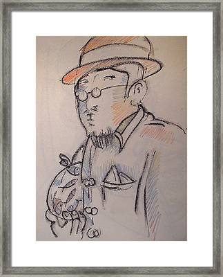 Matisse En Route To His Studio With Goldfish Framed Print