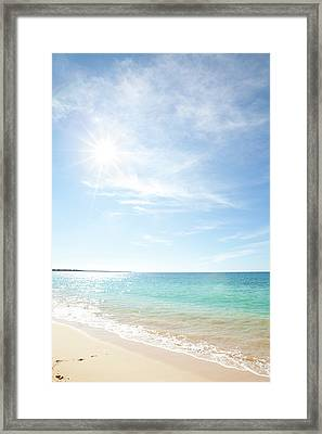 Maui Beach Framed Print by Monica and Michael Sweet