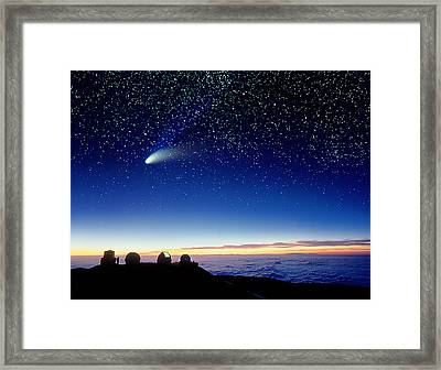 Mauna Kea Telescopes Framed Print