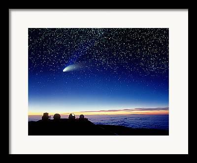 Comet Halebopp Framed Prints