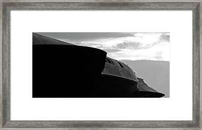 Menacing Blackbird Framed Print
