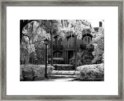 Mercer Williams House Framed Print by Jeff Holbrook