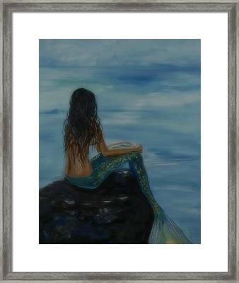 Mermaid Mist Framed Print by Leslie Allen