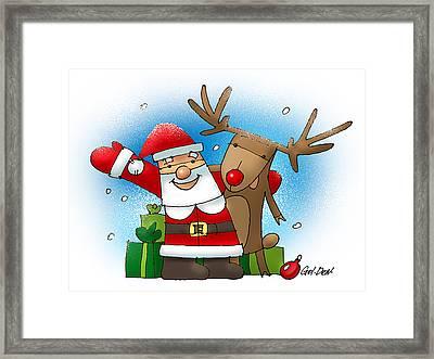 Merry Christmas Framed Print by Denys Golemenkov