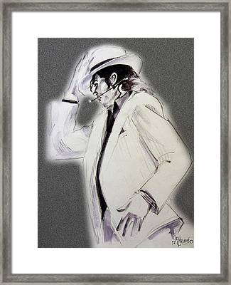 Michael Jackson - Smooth Criminal In Tii Framed Print