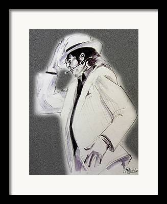 Mj Tribute Drawings Framed Prints